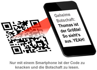 geheimtasse qr code f r 007 geheimagenten. Black Bedroom Furniture Sets. Home Design Ideas